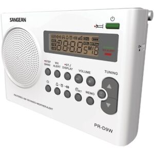 SANGEAN PR-D9W AM/FM/NOAA Weather Alert Rechargeable Radio
