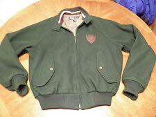 90's POLO Ralph Lauren Green Wool VARSITY Jacket w/ Shield Crest Patch P-WING S