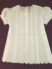 VTG Imperial Baby Dress Madeira Portugal 12  Hand Made New Old Stock Tags 1950's