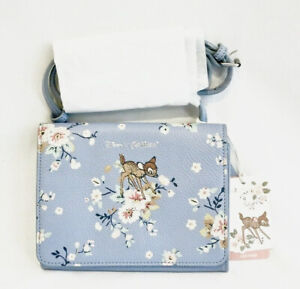 Cath Kidston Disney Bambi Leather Bag Blue Rose Handbag Thumper Floral Flowers