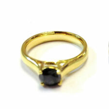 Solitaire 9Carat Yellow Gold Excellent Fine Diamond Rings