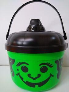 VINTAGE 1986 Green Witch McDonald's Halloween Bucket - BRAND NEW, MINT!!