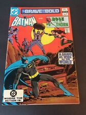 Dc Comics Brave And The Bold Comic Book #188 Batman And Rose And The Thorn
