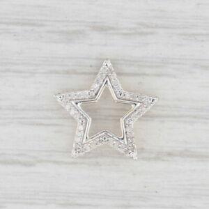 Diamond Star Pendant 10k White Yellow Gold Floating