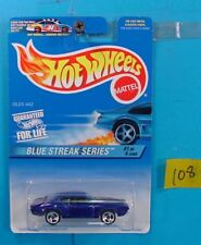C108 HOT WHEELS BLUE STREAK SERIES OLDS 442 #573 HARDTOP BLUE NEW ON CARD
