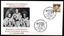 Flug zum Mond. Intern. Briefmarkenausstellung, Duisburg. SoSt. BRD 1969