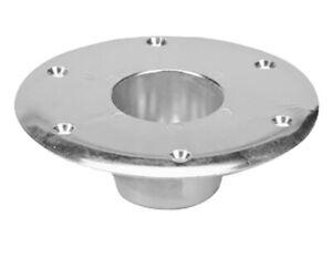 Faulkner 48732, RV Recessed Flush Mount Table Leg Base; Round, Aluminum