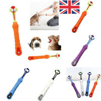 UK Large Dog Three-Head Toothbrush Pet Puppy Cat Teeth Cleaning Oral Hygiene