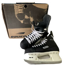 New listing Bauer Impact 100 Pro Ice Hockey Skates Mens Size 10R Black With 11.5 Inch Blade