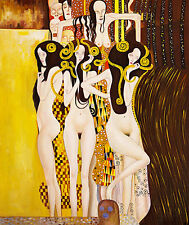Beethoven Frieze by Gustav Klimt A1+ Quality Canvas Print