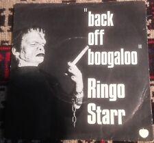 RINGO STARR back off boogaloo*blindman 1972 UK BLUE APPLE 45 + SCARCE PS