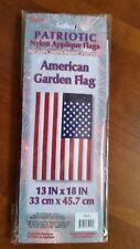 New listing American Flag Mini Garden Nylon Applique13x18 Nylon New!