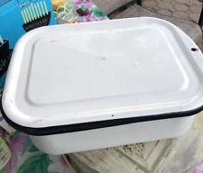 Original 1952 Ge Enamel Food Storer Box From Original Refrigerator. Lid Inc