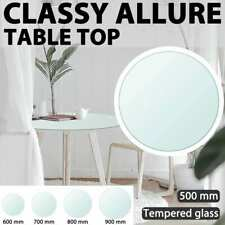 vidaXL Table Top Tempered Glass Round Replace Tabletop Accessory Multi Sizes