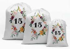 Darling Souvenir White Floral Quinceanera Party Supplies Favor Bags-8Xs