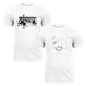 Men Classic Pure Cotton Basic Tee Music Theme Graphic Print Casual T-Shirt Top