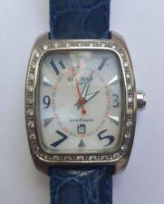 LOCMAN Diamond TITANIO TITANIUM case ref 483 Orologio Donna con Cinturino in Pelle Blu