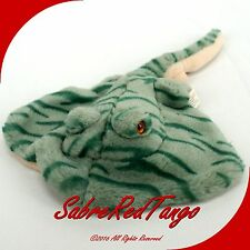 "K&M INTERNATIONAL 1999 STUFFED ANIMAL PLUSH 14"" OCEAN STINGRAY"