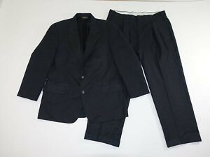 Brooks Brothers Men's Pinstripe Suit Size 43 Regular 38 x 29 Charcoal Gray Wool