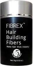 FIBREX Hair Building Thickening Fibers Black 15g Natural Balding Loss Concealer