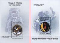MADAGASCAR 2000 USA in SPACE  = GEMINI 12 & APOLLO 11 ASTRONAUTS  2 S/S MNH
