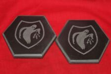 Psyop / Ghost Army set of 2 Real Marble Coasters