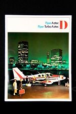 PIPER Vintage AZTEC D Turbo Brochure Color Rare 1968 USA Performer Twin Gift New