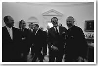 1966 Silver Halide Photo Of Lyndon Johnson Having A Laugh With Billy Graham