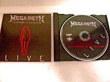 Megadeth: LIVE Countdown To Extinction concert CD Mustaine Metallica BIG 4