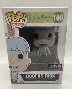 FUNKO POP RICK AND MORTY DOOFUS RICK GAME STOP EXCLUSIVE 140