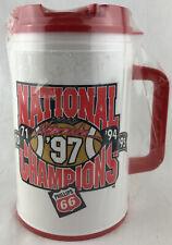 """Phillips 66 Nebraska Cornhuskers Coffee Mug Plastic Cup Travel 8"""" Tom Osborne"""