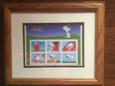 Snoopy Portugal Stamp Collection Set in Frame