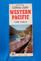 California Zephyr - Western Pacific - Time Table - May 1, 1966