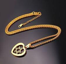 Star of David in Heart necklace, Messianic Jewish Interest! Yeshua!