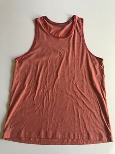 Lululemon Mens XL Salmon/Pink Tank Top