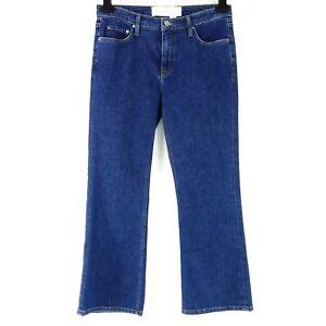 Victoria Beckham Femmes Pantalon Jeans Taille W26 W28 Bleu Recadrée Denim Np 280