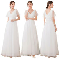 Ever-Pretty US V-Neck Long Bridesmaid Dress Cocktail Wedding Gown Plus Size 7962