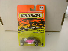 1994 MATCHBOX SUPERFAST #69 BLACK '33 WILLY'S STREET ROD NEW ON CARD
