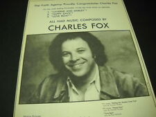 CHARLES FOX 1977 Promo Ad LAVERNE AND SHIRLEY Happy Days and LOVE BOAT mint