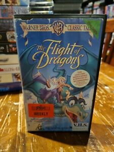 The Flight Of Dragons VHS VIDEO TAPE (1992 animated kids / family fantasy movie)