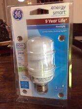 GE Energy Smart CFL Outdoor POST LIGHT BLUB 14W (60 Watt Replacement) ~ NEW 9 Yr