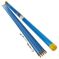10M Cable Access Kit 1M X 10 Electricians Puller Rods Wires Draw Push Pulling,
