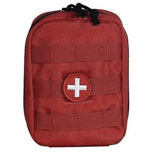 Voodoo RedTactical EMT Pouch Medic EMS Paramedic First Aid Pouch MOLLE w/ Patch