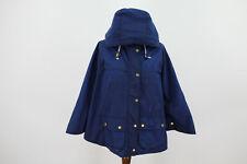 BARBOUR Blue Wax Dales Cape Size Uk 8