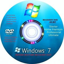 Windows 7 Recovery / Repair disk All Versions 64-bit Utillity Tools disk