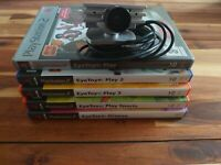 PlayStation 2 Eye Toy Camera And Games Bundle (Tested And Working) 5 PS2 Games