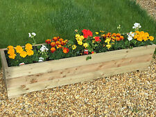 LARGE WOODEN GARDEN PLANTER TROUGH 150cm LENGTH DECKING**FREE GARDENING GLOVES**