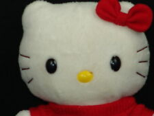 HELLO KITTY PLAID SCHOOLGIRL OUTFIT RED BOW SANRIO PLUSH STUFFED ANIMAL NAKAJIMA