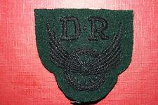 BRITISH CANADA WW2 DESPATCH RIDER DR PATCH BADGE RIFLE'S REGIMENTS 1ST TYPE