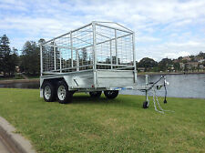 "SeaTrail 8x4 Box/Plant Trailer, Galvanised, 13"" Rims, Dual/Tandem Axle"